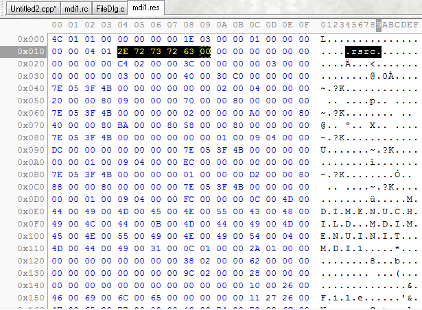 Following is a screen shot of hex data editing in C-Free:: www.programarts.com/cfree_en/features_hexedit.htm